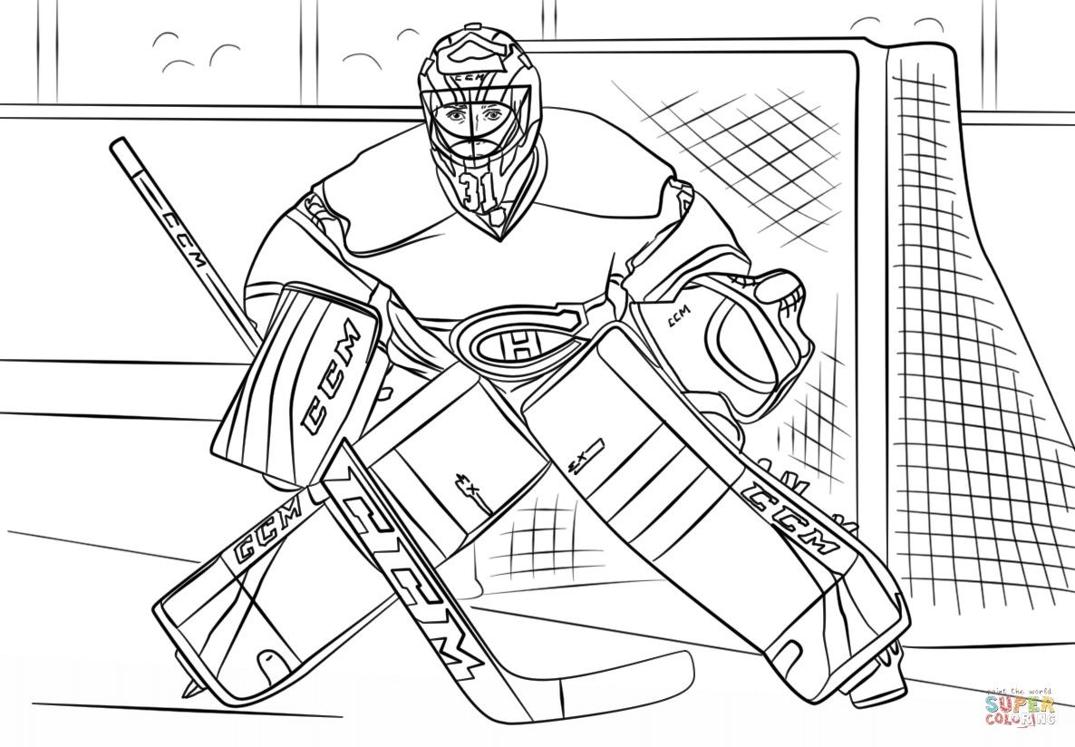 Image Result For Hockey Goalie Drawing Hockey Drawing Coloring Pages Hockey Goalie