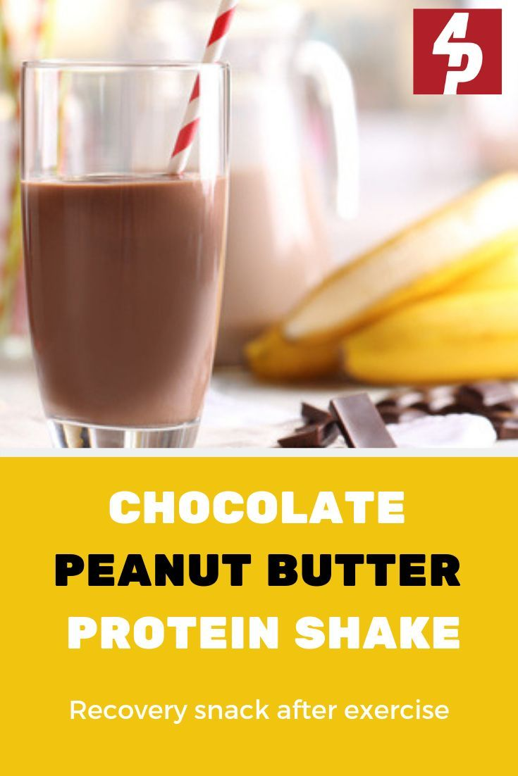 Chocolate peanut butter protein shake peanut butter