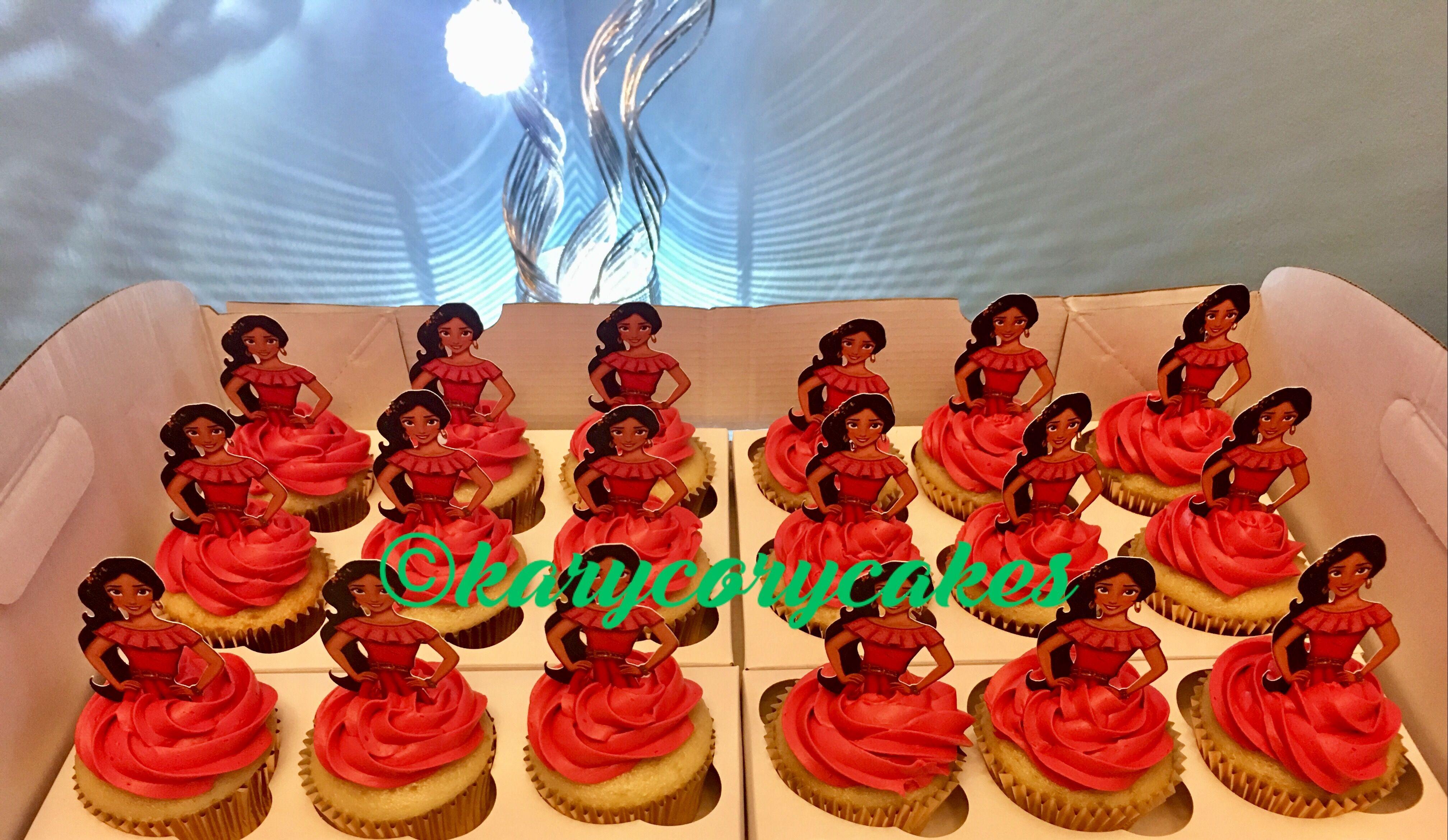 Princess Elena Of Avalor Cupcakes.