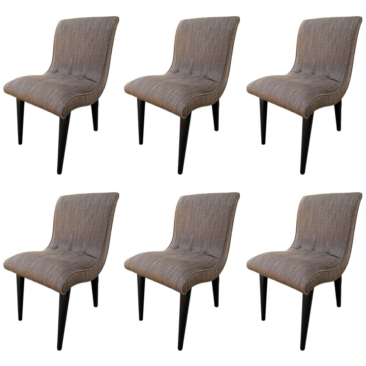 Decorate Your Dinning With These Lovely Christmas Chair: Set Of Six Dining Chairs By Russel Wright