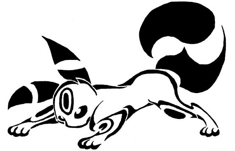 umbreon outline
