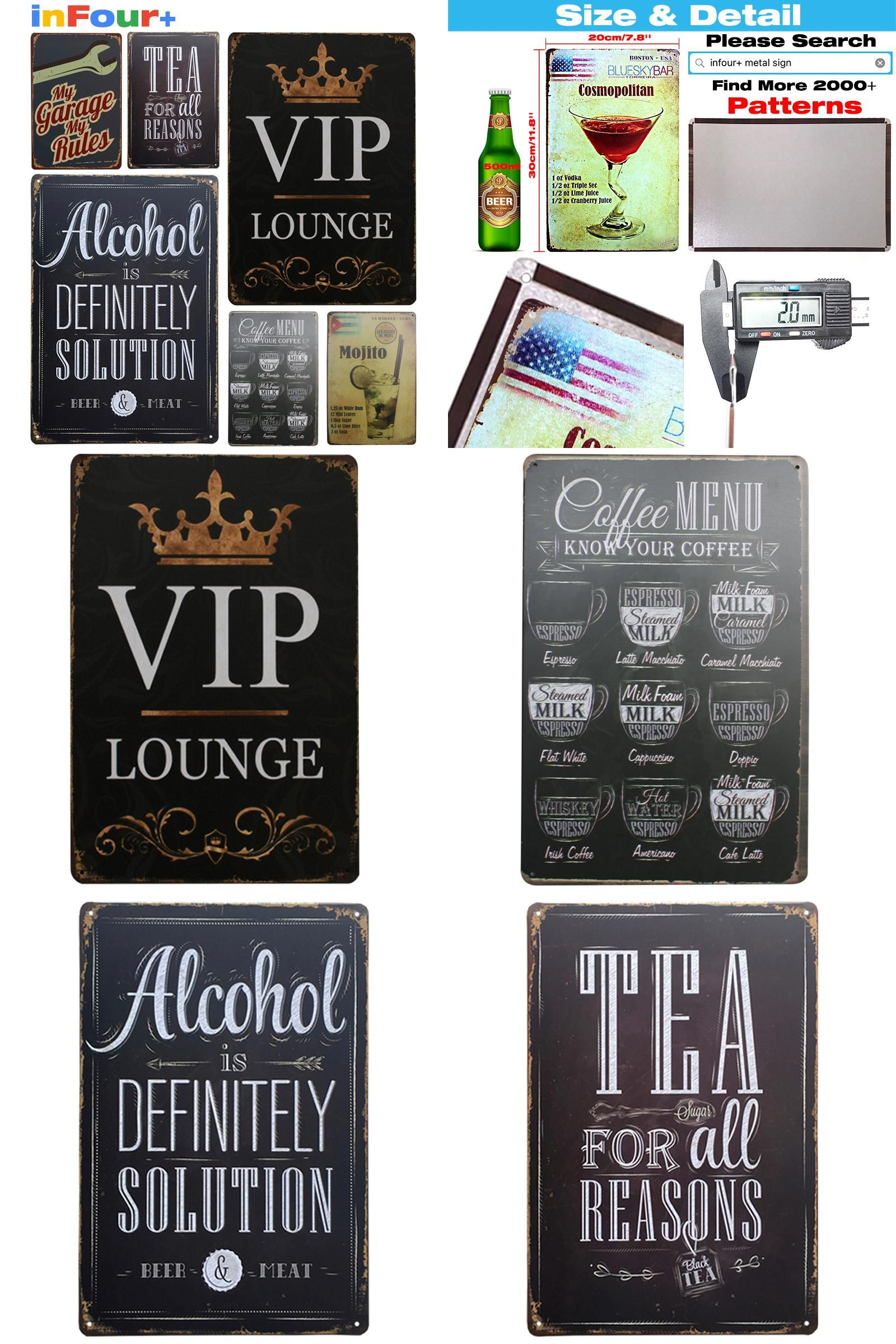 [Visit To Buy] [ VIP ] Shabby Chic Metal Poster Vintage Metal Signs Home