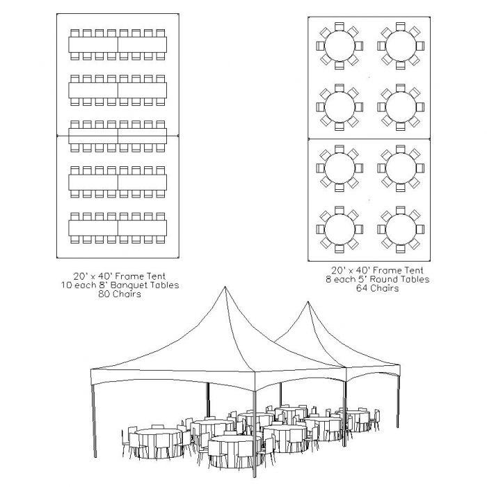 20 x 40 tent diagram