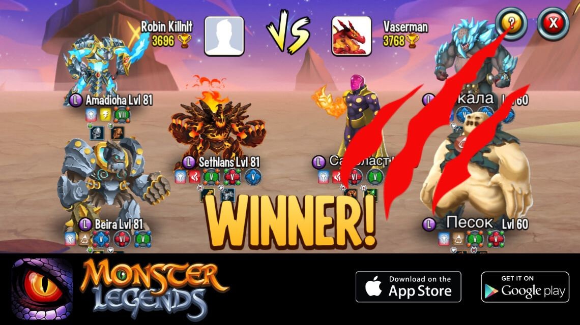 I Rule At The Monster Legends Arena If You Dare To Challenge Me
