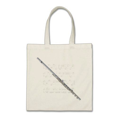 Tote Flute and sheet music | | Tote bag, Flute