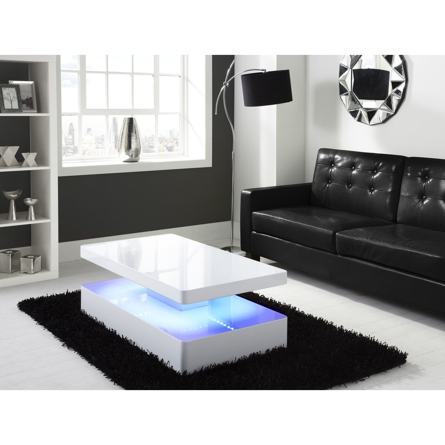 High Gloss White Coffee Table With Led Lighting Tiffany Range Center Table Living Room Coffee Table White Furniture Living Room [ 1500 x 1500 Pixel ]