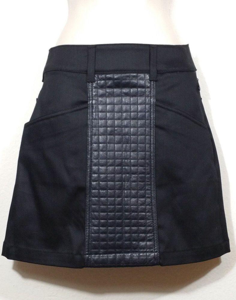f0b6fbab3b3d4 7 For All Mankind A Line Denim Mini Skirt