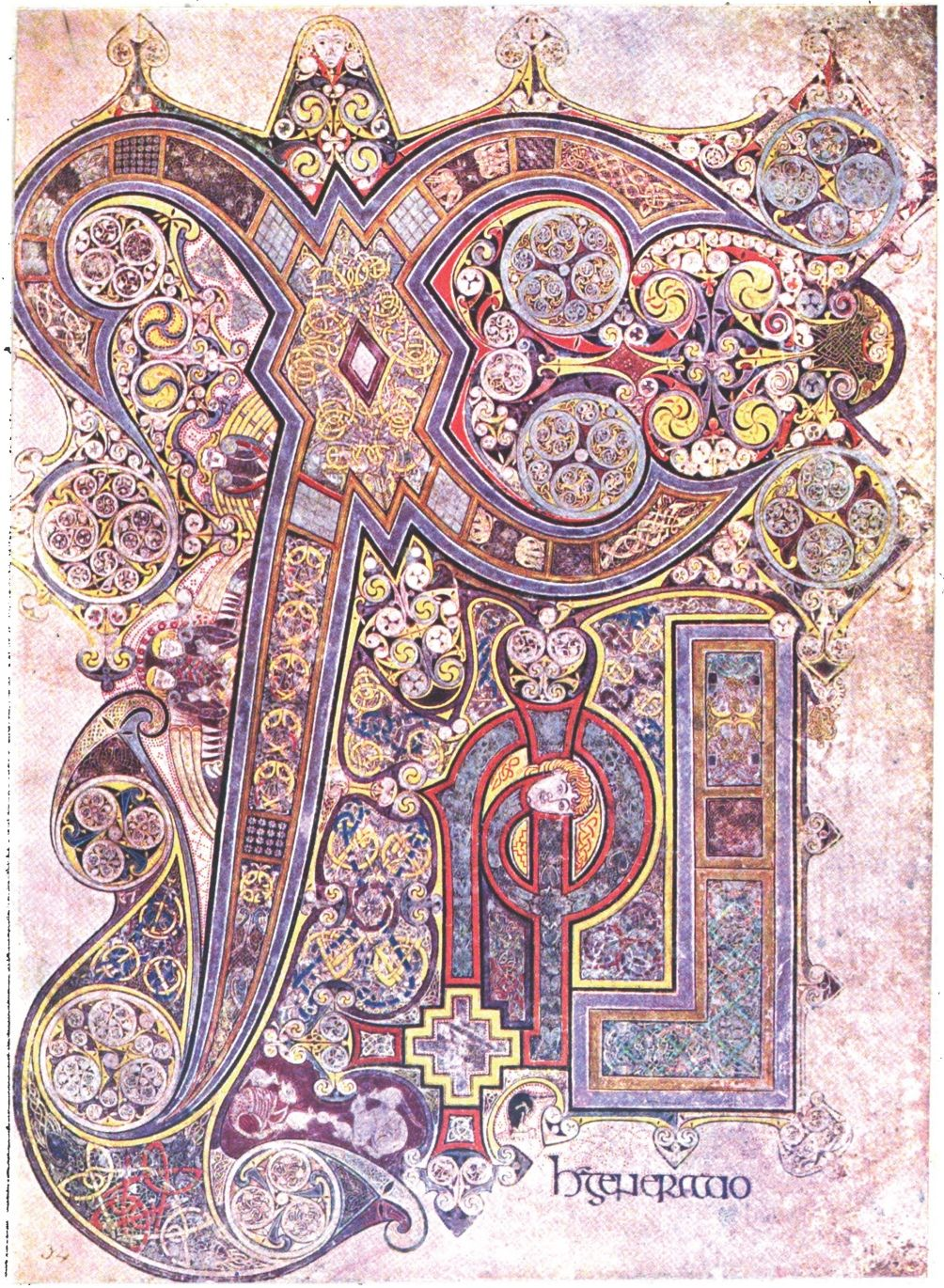 Plate Lx From The Book Of Kells Celtic Art Symbols And border=