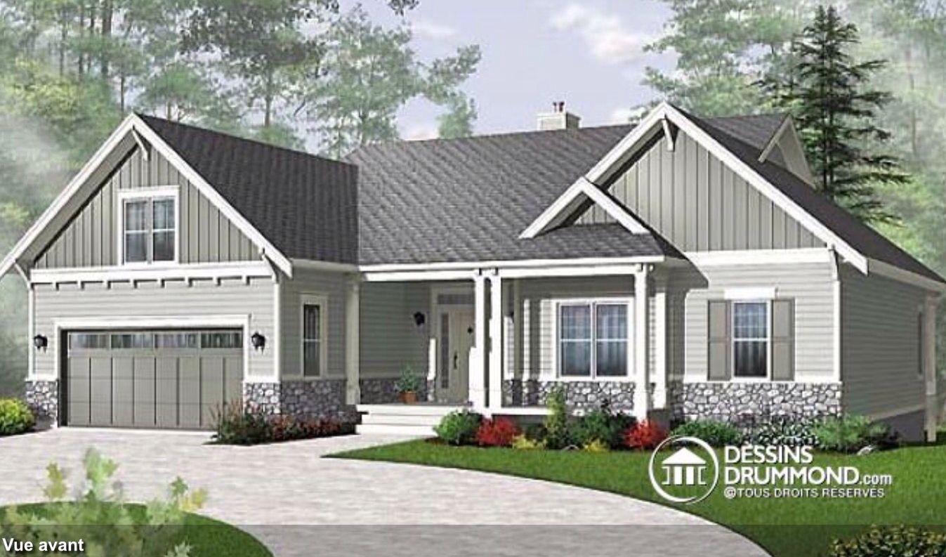 Maison Américaine Craftsman Style House Plans Ranch House