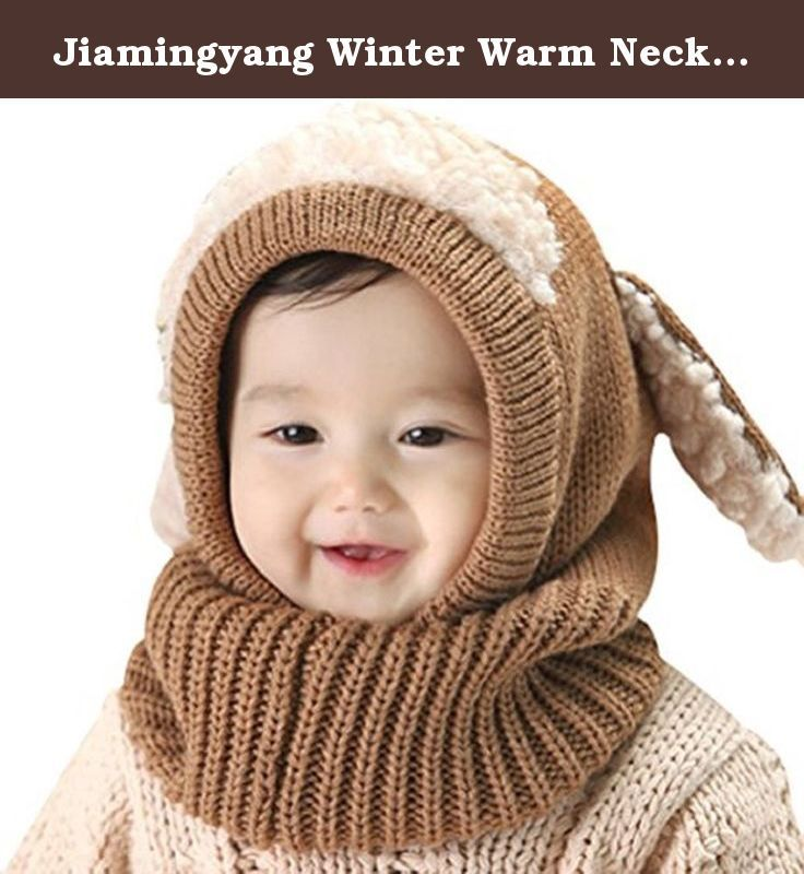 096d87a16 Jiamingyang Winter Warm Neck Wrap Scarf Children Wool Knitted Hats ...