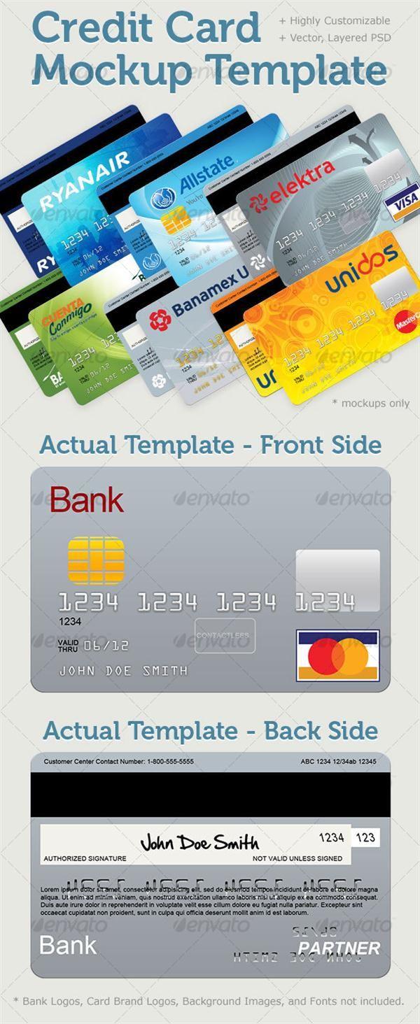 Credit Card Mockup Template Custom Credit Card Design
