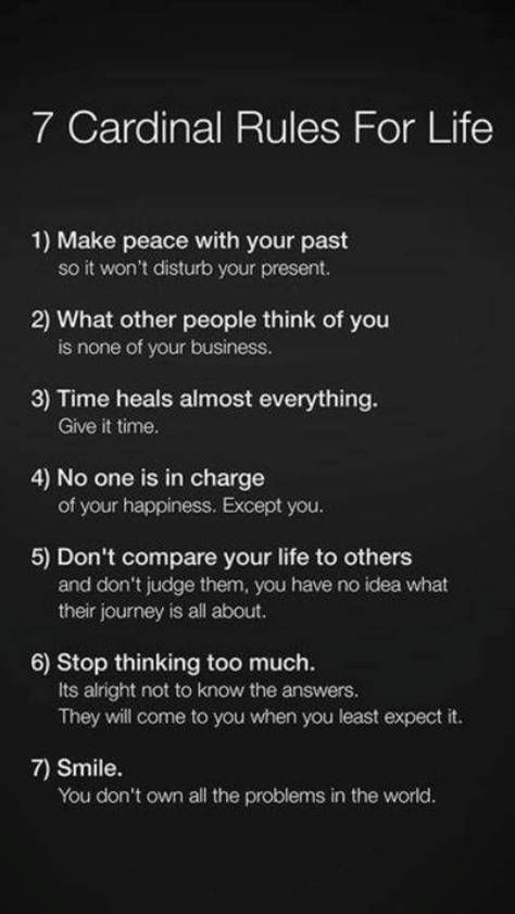 7 Cardinal Rules For Life Make Peace With Your Past If Only I Had