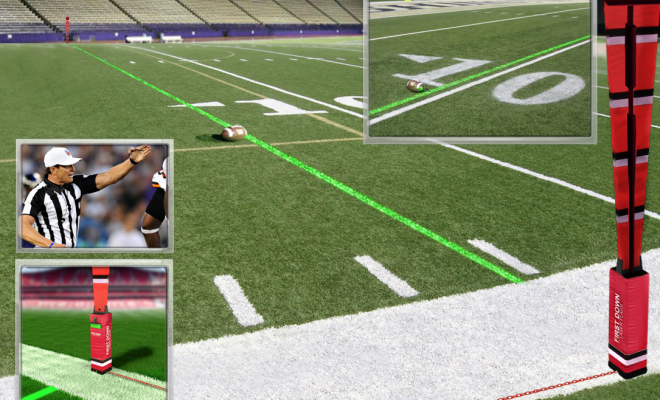 Laser System Could Bring Tv Experience To Local Football Stadiums College Football Playoff Ncaa College Football Football S