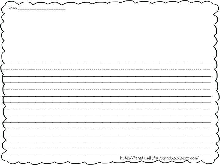 first grade writing paper First Grade Fanatic! School