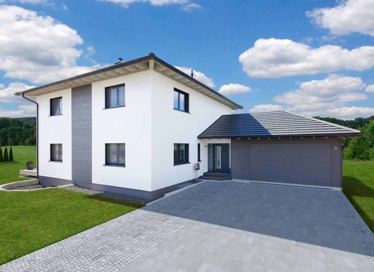 Stadtvilla modern mit Doppelgarage HolzFertighaus