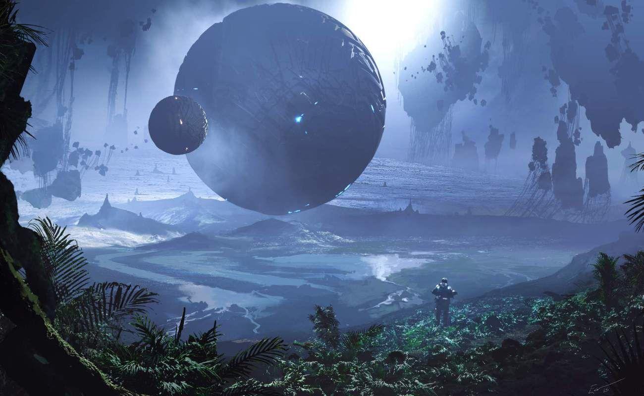 Scifi World Fantasy Wallpaper Hd Wallpaper Hunter Digital Artwork Fantasy Fantasy Art Concept Art