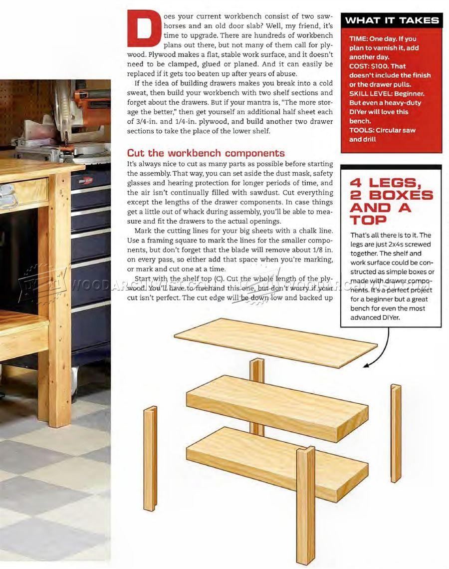 simple workbench plans - workshop solutions   work bench