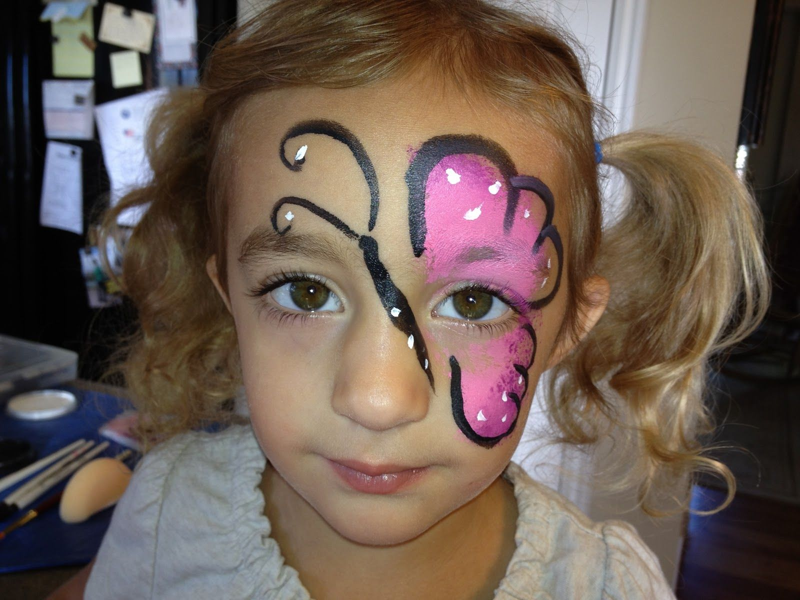 Simple Butterfly Face Painting Designs - Bing images | gatherings ... for Butterfly Painting Designs  67qdu