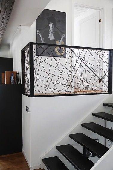 mme si un escalier sans rambarde est trs joli ce nest pas trs scure surtout quand on a des enfants mais qui dit garde corps ne dit pas forcment une