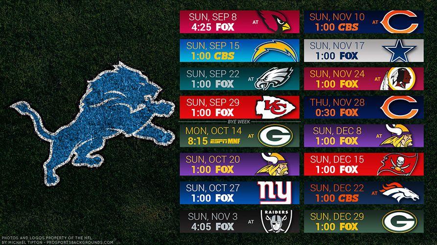 Detroit Lions 2019 Desktop Pc Field Nfl Schedule Wallpaper Detroit Lions Wallpaper Detroit Lions Sports Backgrounds