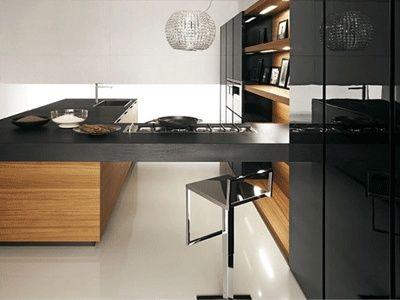 Gabinetes de Cocina Negros - Muy Elegantes | Cocinas Color Negro ...