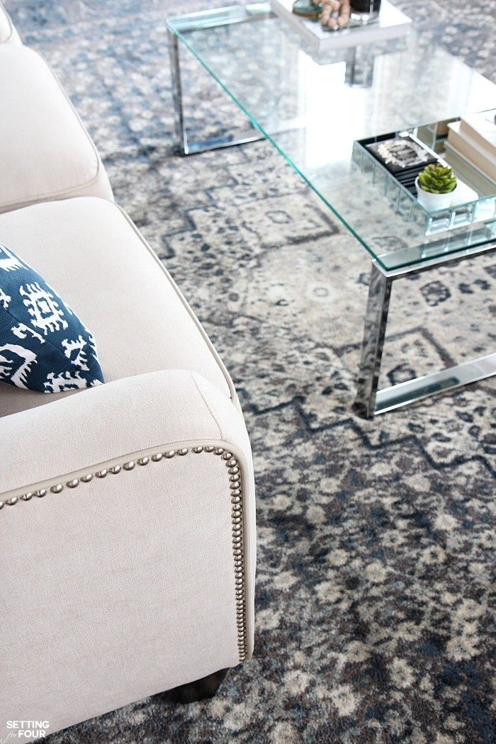 See My New Indigo Blue Area Rug In A Vintage Style For Living Room Enter The Rugs Usa Giveaway