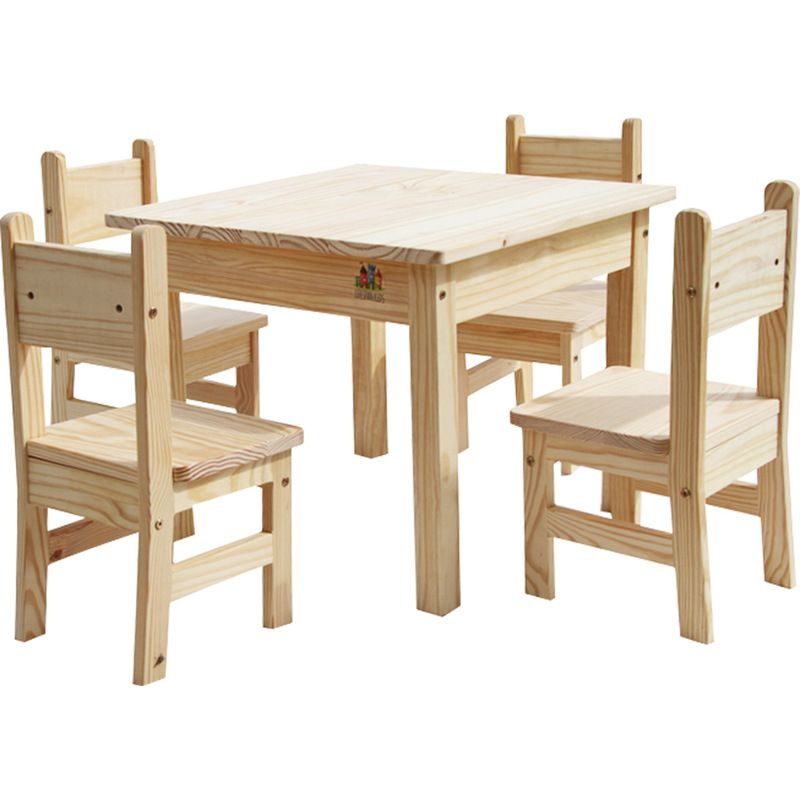 Incredible Wooden Kids Table And Chair Set With Rounded Edges Childs Evergreenethics Interior Chair Design Evergreenethicsorg