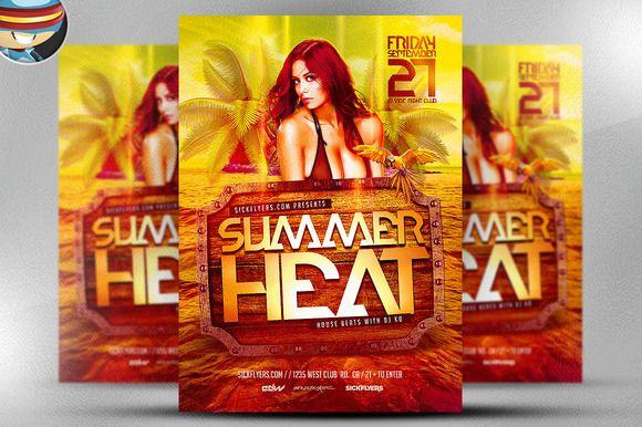 Summer Heat Flyer Template – Summer Flyer Template