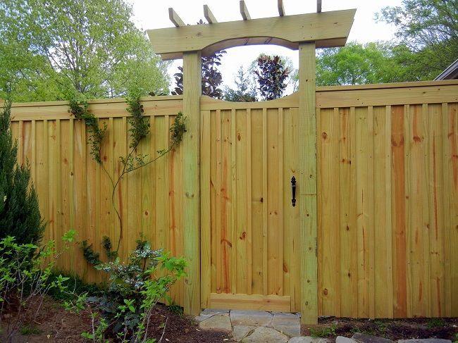 Wood Board And Batten With Arbor Over Gate Patio Garden Design Country Home Exteriors Garden Design