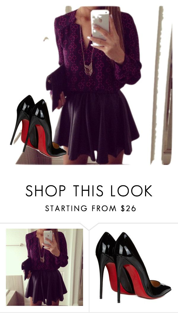 """""""Untitled #4"""" by nermina85-1 ❤ liked on Polyvore featuring Christian Louboutin"""