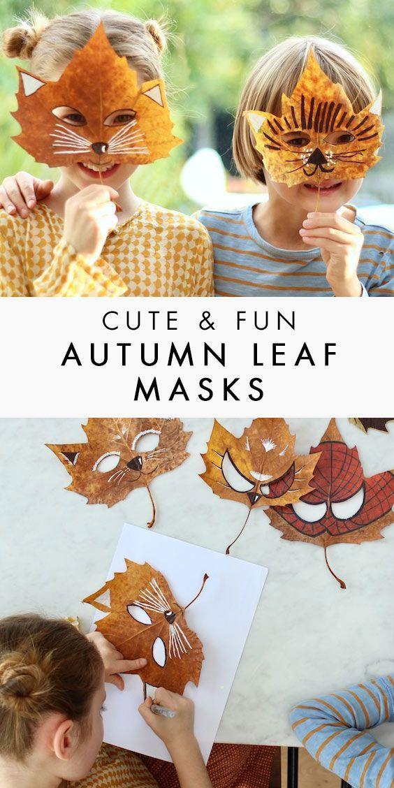 Superhero & Animal Leaf Masks - A Fun Craft for Autumn