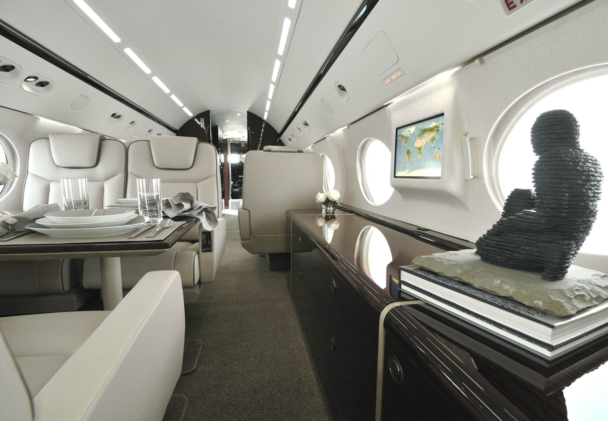Luxurious Givsp Private Jet Interior Completion By International