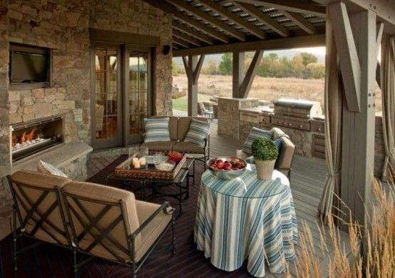 designer veranda terrasse veranda holz vintage möbel essbereich - garten lounge mobel holz