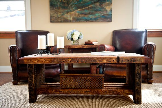 Reclaimed Wood Coffee Table With Images Coffee Table Coffee