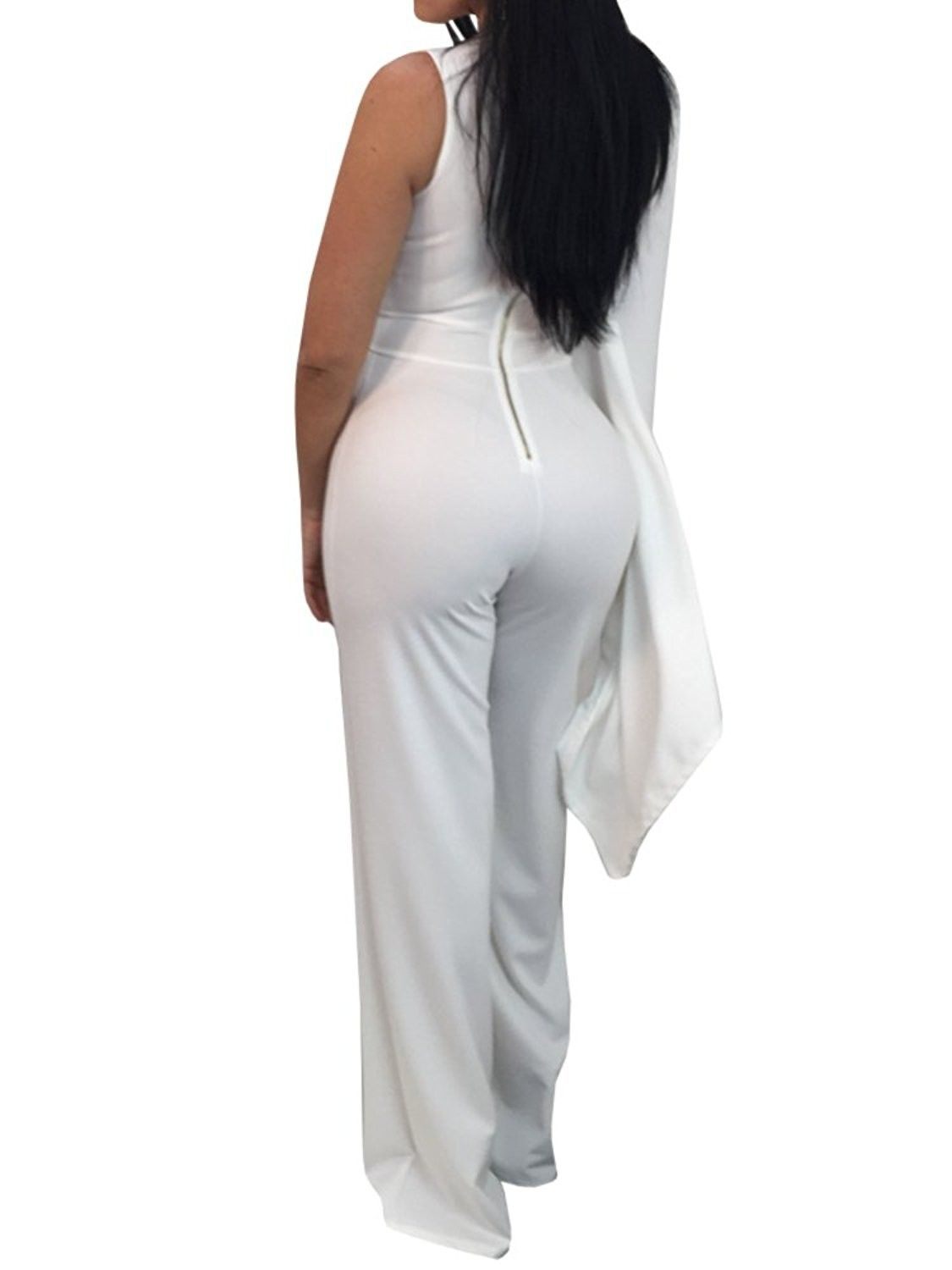 8b01dac9e770 Womens Elegant Jumpsuits Bodycon One Shoulder Wide Leg Party ...