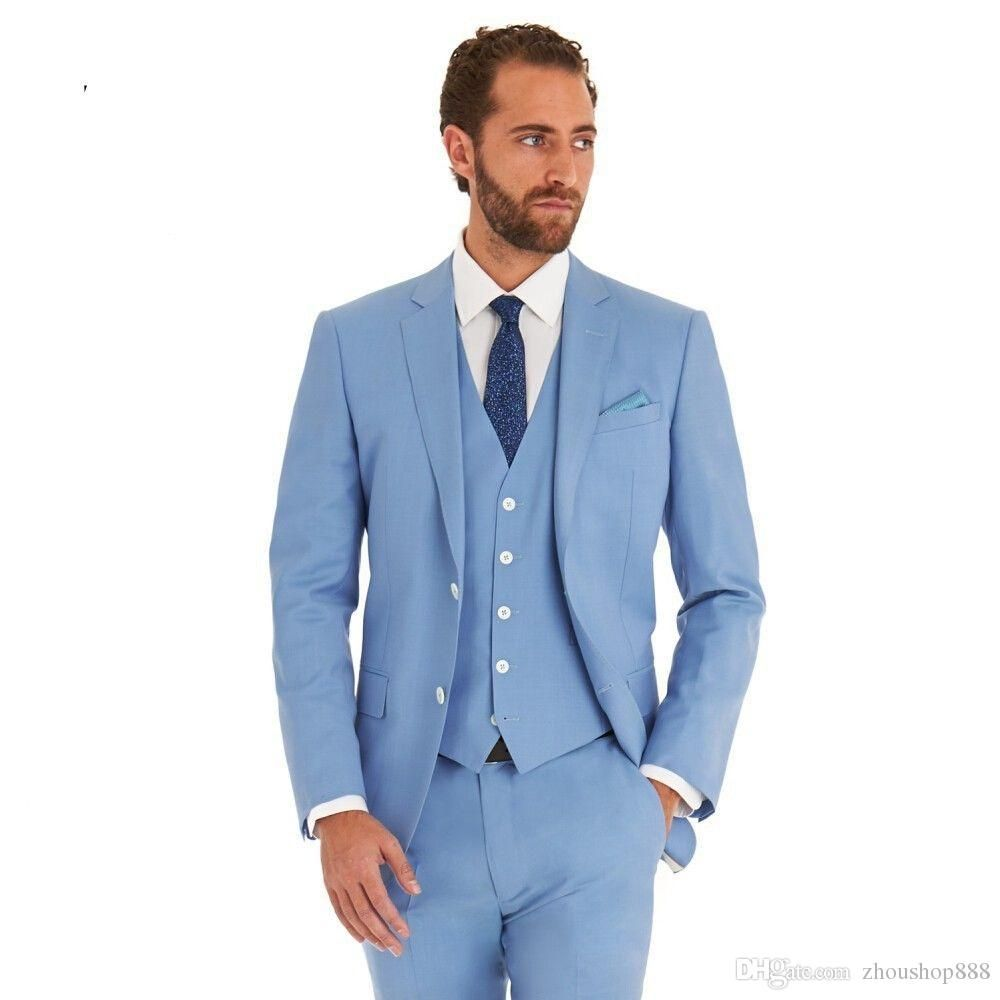 Click to Buy << High Quality Mens Suits Groomsmen Groom Tuxedos ...