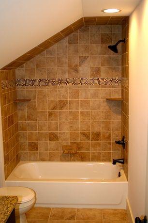 Craftsman Full Bathroom with Daltile Fidenza Dorado Porcelain Floor ...