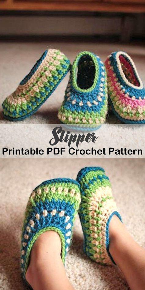 Crea un paio di comode pantofole. modelli di scarpette alluncinetto – schema uncinetto pdf – h