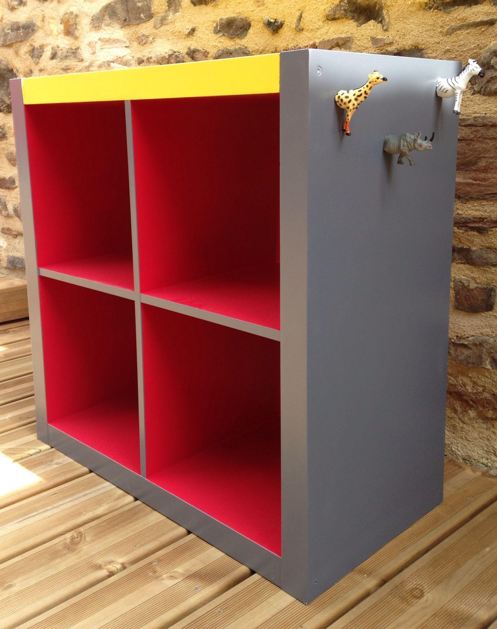 Rangement expedit d 39 ikea relook angus atelier de relooking de meubles vintage industriel - Personnaliser meuble ikea ...