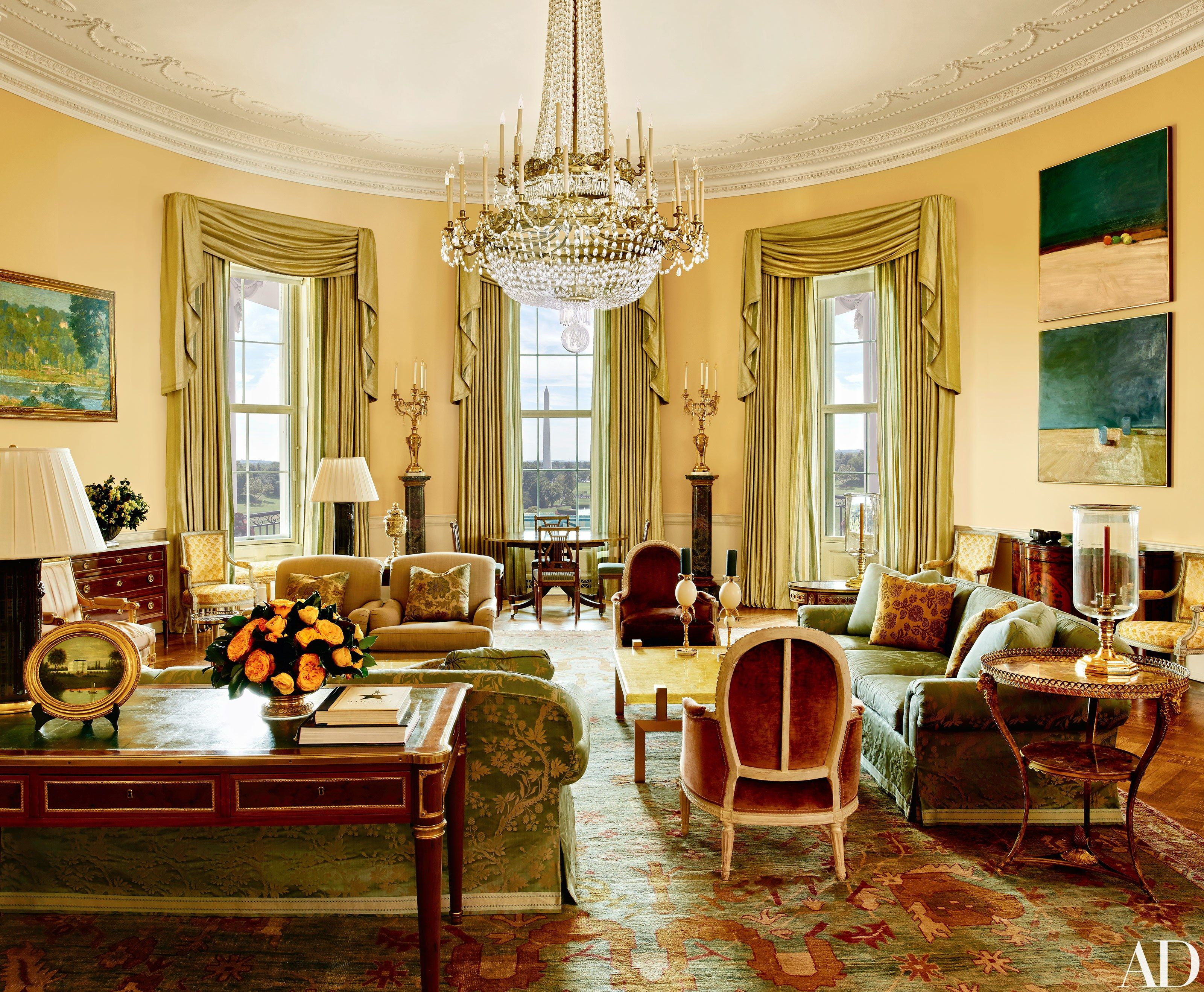 Beautiful The Obama Familyu0027s Stylish Private World Inside The White House Photos    Architectural Digest