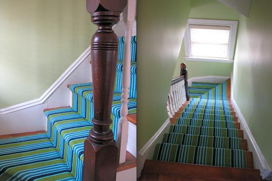 Best Diy Install A Colorful Stair Runner Hallway Carpet 400 x 300