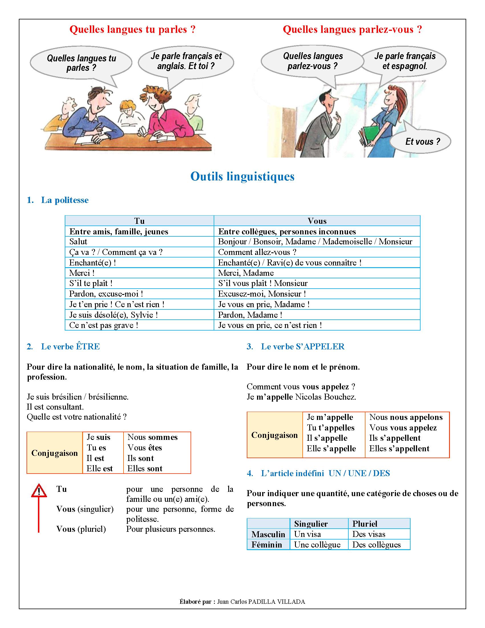 EO - Se présenter - Page 3. Fiche réalisée par Juan Carlos Padilla Villada. | yup, I'm a (french ...