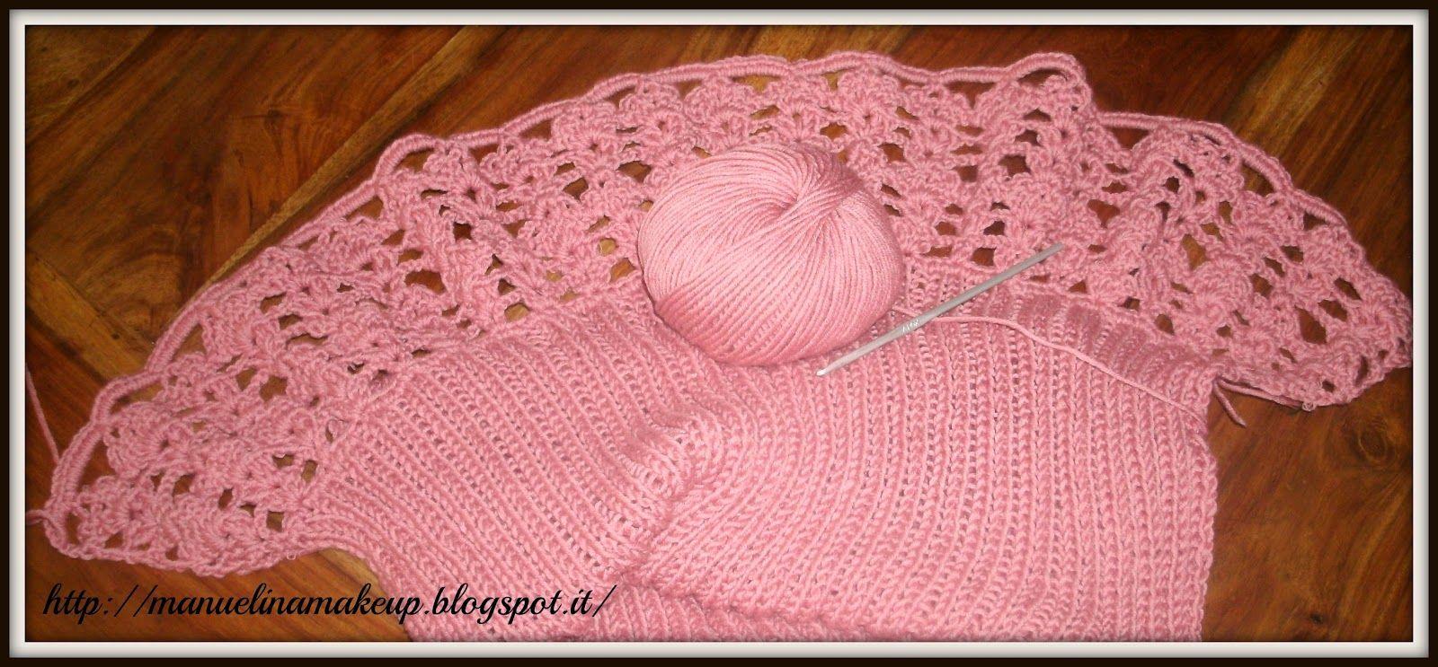 "Lovely shoulderwarmer made in Adriafil Duo Comfort by following ""Reno"" pattern; download it online at the following link: http://www.adriafil.com/html/img/riviste/mag41/modelli/file_istruzioni/uk/41Coordinato_Reno.pdf from ""Il Blog di Manu : moda""  #adriafil #rosa #pink #rose #duocomfort #yarn #filato #yarns #madeinitaly #shoulderwarmer #coprispalle #modello #pattern #knitwear #knit #knitting #crochet #crocheter #uncinetto #moda #fashion #trends #creatività #blog #blogger #woolblend"