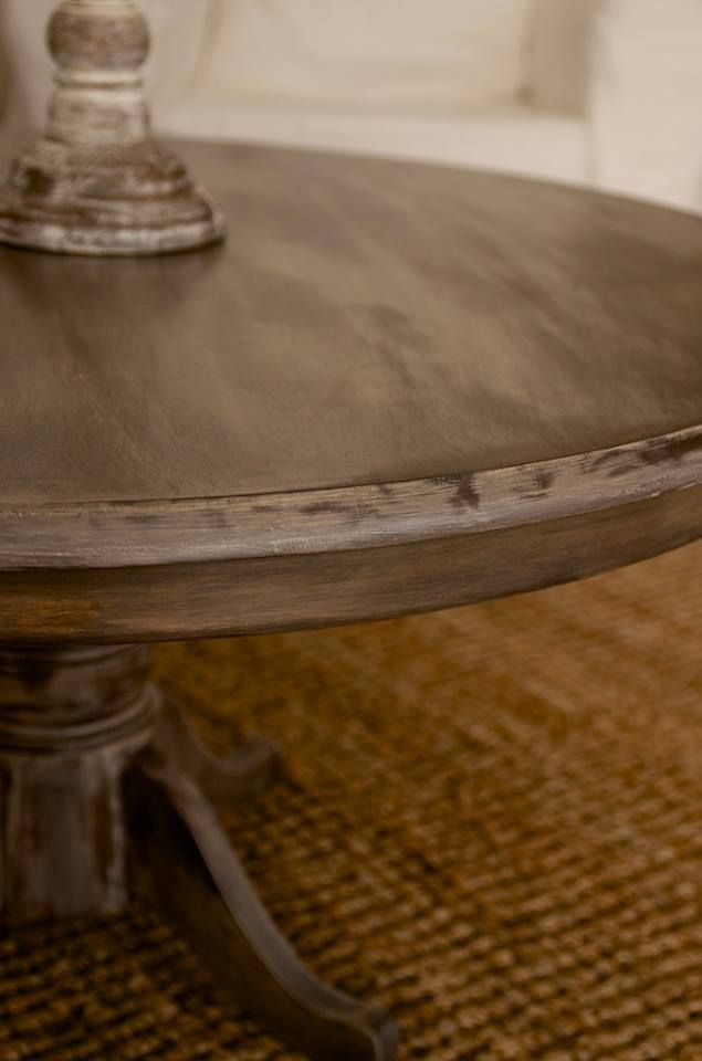 Round Coffee Table Stain And White Wash Savvy Susanne