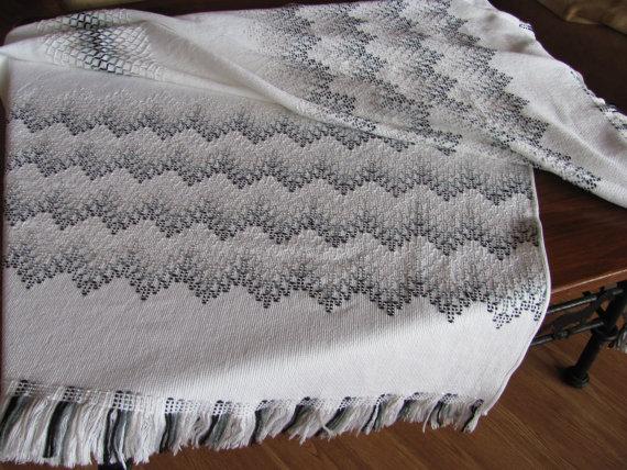 50 Waves of Gray Swedish Weaving Blanket | Pinterest