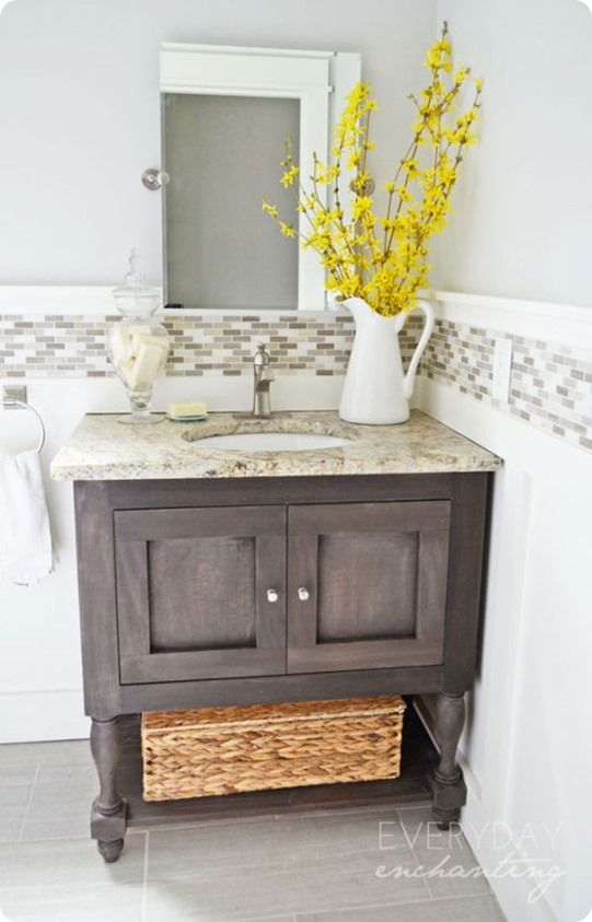 pottery barn inspired bathroom vanity - Pottery Barn Bathroom Vanity