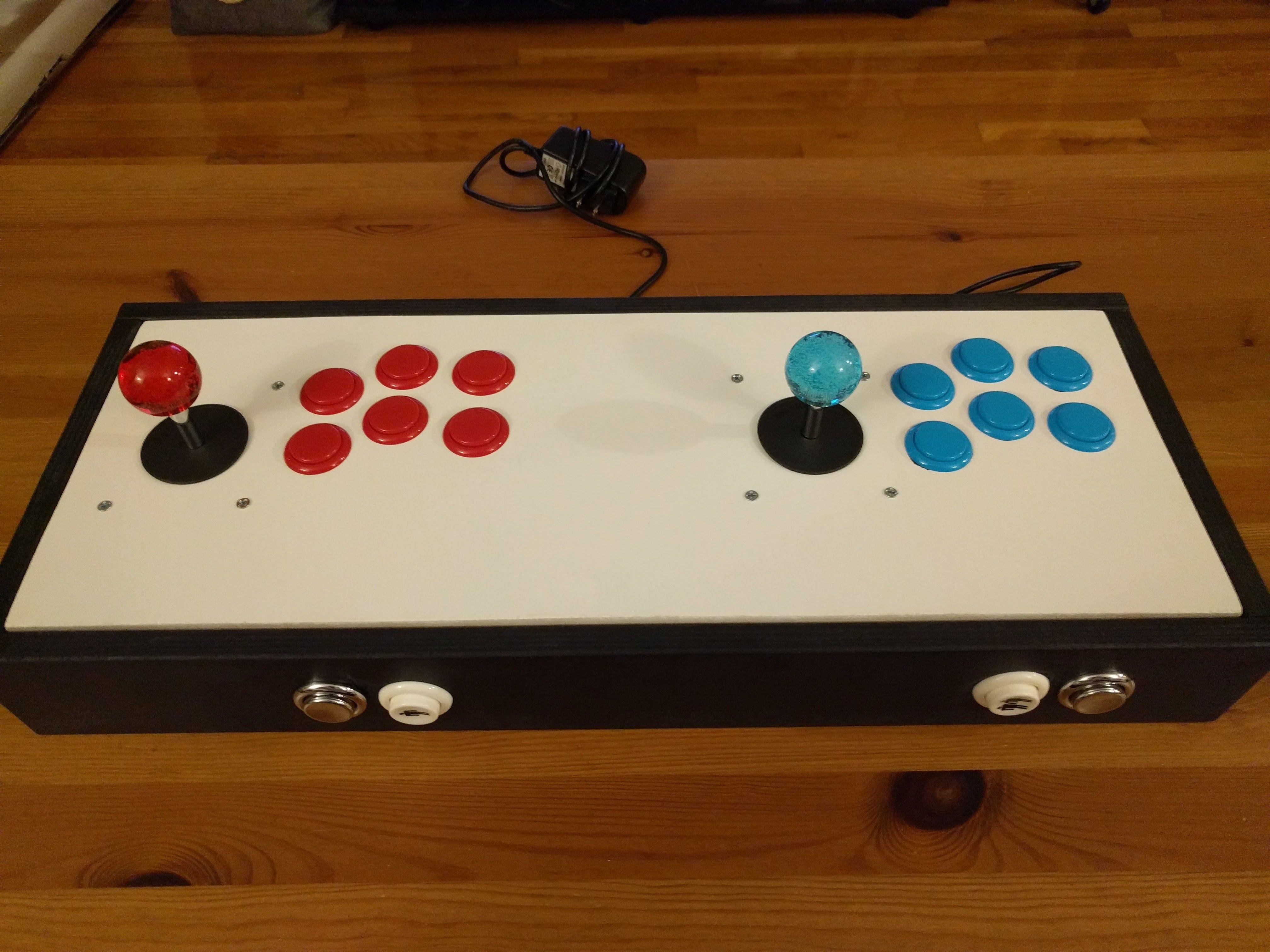 2 Player Arcade Stick Powered By Rpi Handmade Crafts Howto Diy Arcade Stick Arcade Stick