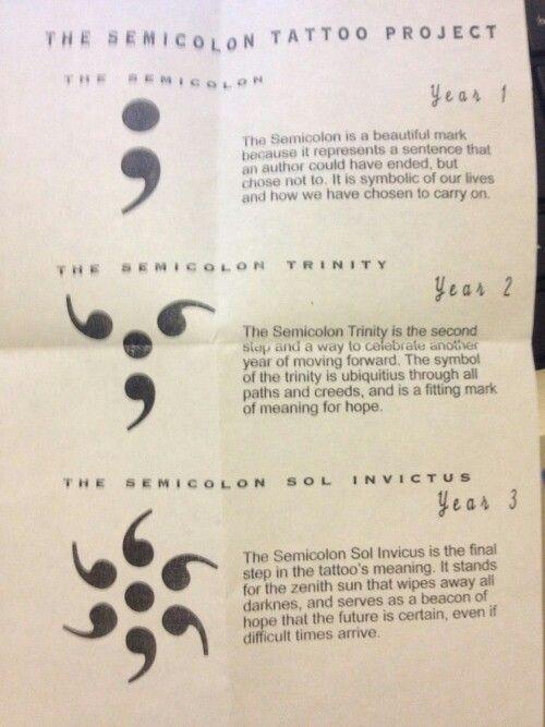 Semicolon Semicolon Trinity Semicolon Sol Invictus Meaningful