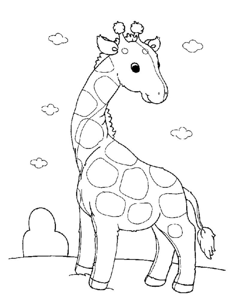 Free Printable Giraffe Coloring Pages For Kids Giraffe Coloring Pages Zoo Animal Coloring Pages Zoo Coloring Pages [ 1024 x 768 Pixel ]
