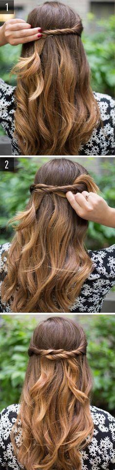 peinados faciles comunión vicky Pinterest Peinado fácil